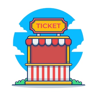 Ticket stand carnaval cartoon