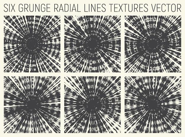 Tie dye radiale decoratieve psychedelische texturen set