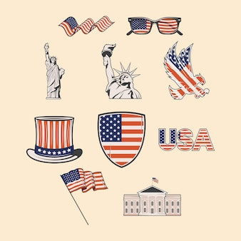 Tien amerikaanse pictogrammen