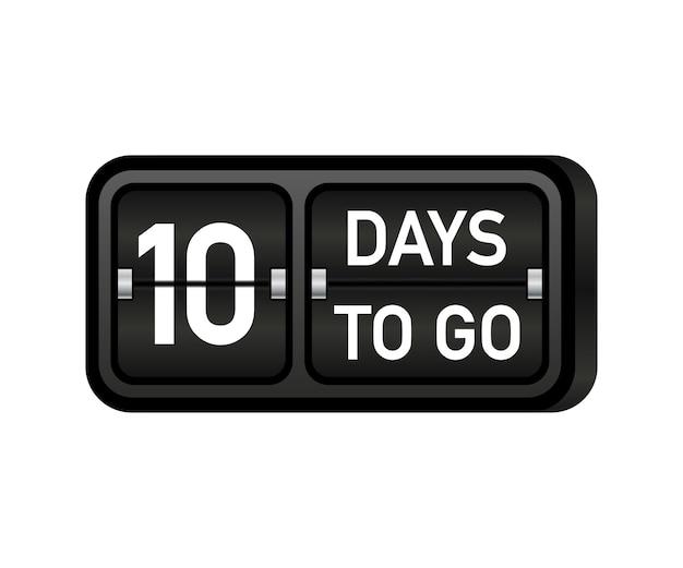 Tien dagen te gaan klok, darck embleem banner