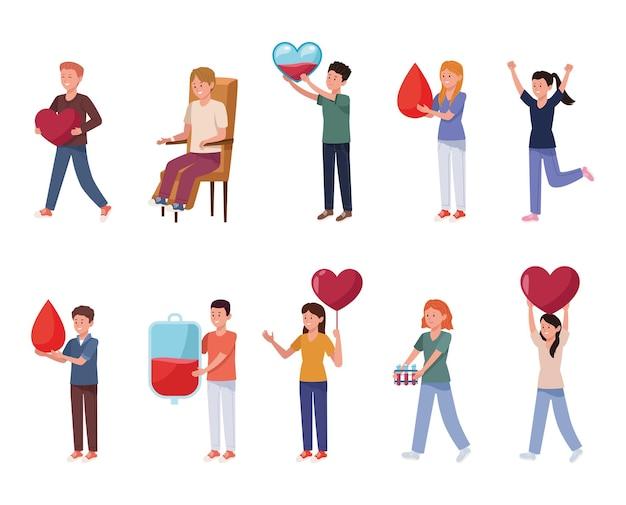 Tien donorkarakters