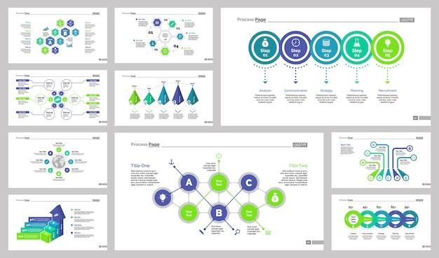 Tien logistiek slide templates set