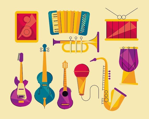 Tien muziekinstrumenten