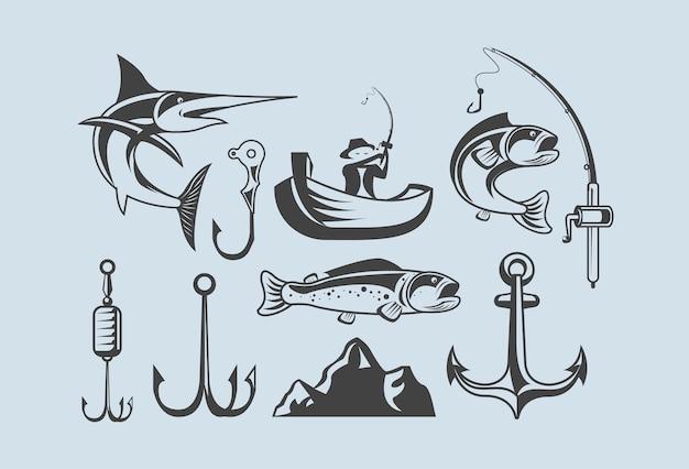 Tien pictogrammen voor vissen