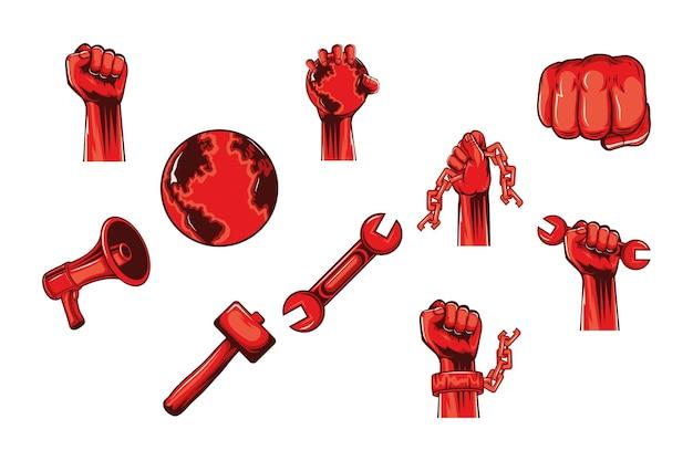 Tien revolutie-iconen