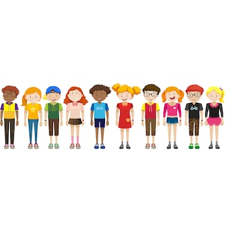 Tiener karakters collectie