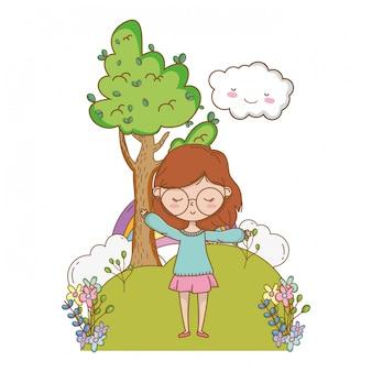 Tiener meisje van cartoon