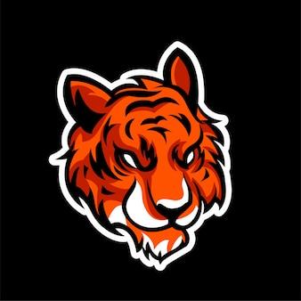 Tiger angry animals logo esports-stijl