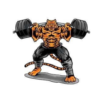 Tiger gewichtheffen