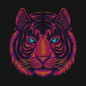 Tiger head illustratie