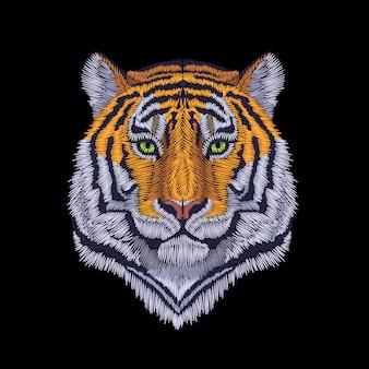 Tiger hoofd illustratie