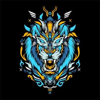 Tiger kunstwerk