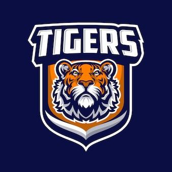 Tiger mascot logo sport.