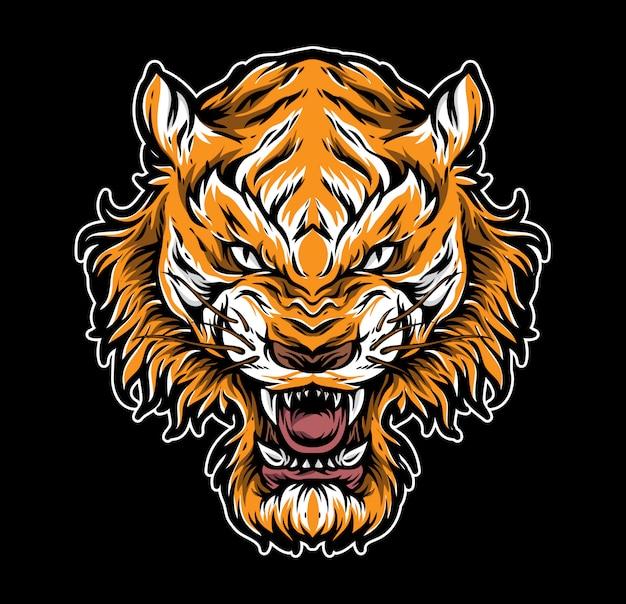 Tiger tattoo vector