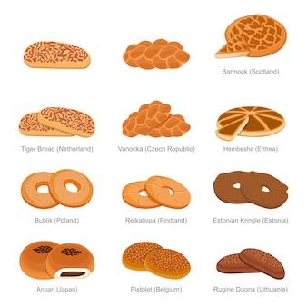 Tiger vanocka bannock en famous unique bread of countries set