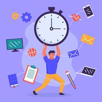 Tijd beheer concept