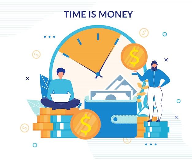 Tijd is geld achtergrond