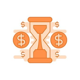 Tijd is geld concept