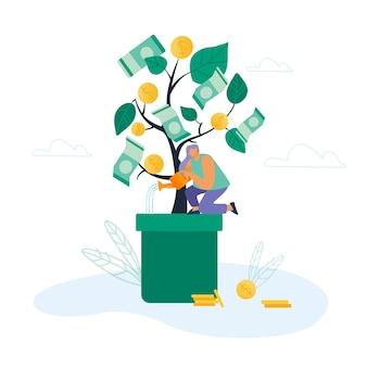 Tijd is geld en investeringsconcept