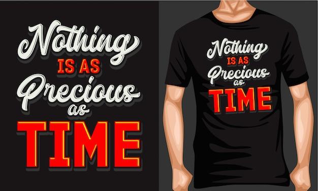 Tijd is kostbare belettering typografie