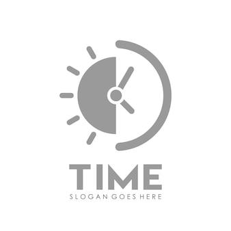 Tijd klok logo ontwerpsjabloon