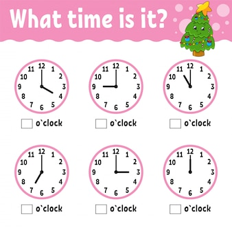 Tijd leren op de klok.