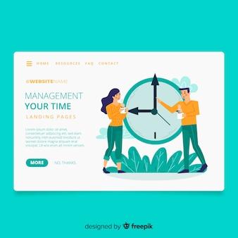 Tijd management concept bestemmingspagina