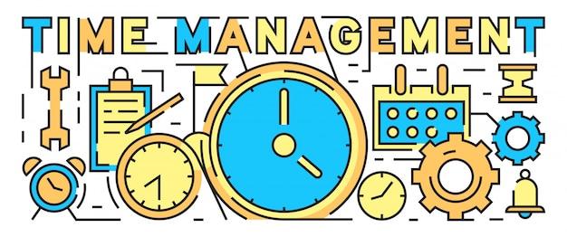 Tijd management concept. tijd is geld bussines concept.