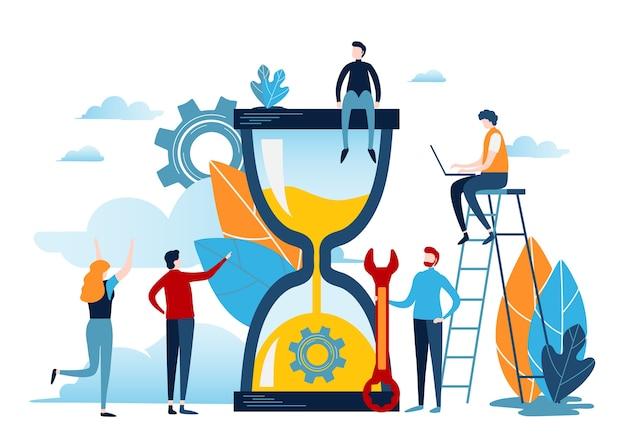 Tijd management concept.
