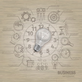 Tijd management infographics