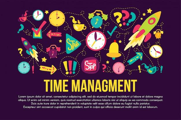 Tijd management stickers set instellen