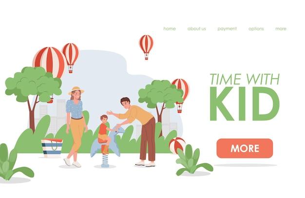 Tijd met de bestemmingspagina van het kind