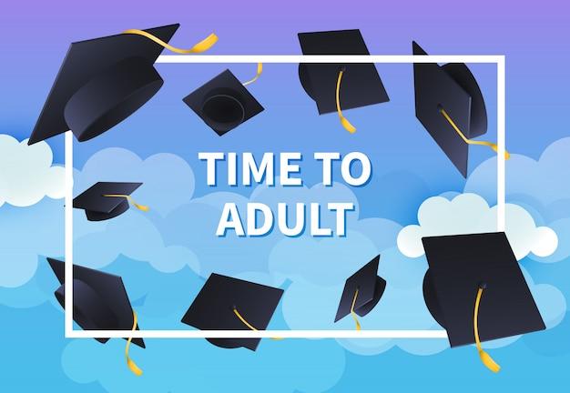 Tijd naar ontwerp van de feestelijke banner van de volwassene