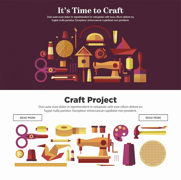 Tijd om ambachtelijke projecten promotionele internetaffiches te maken