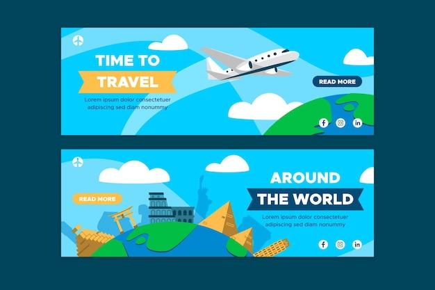 Tijd om geplaatste banners te reizen
