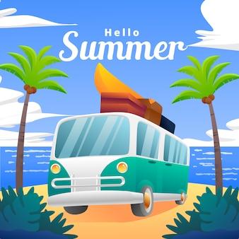 Tijd om op vakantie te gaan met familie en vrienden
