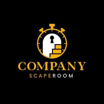 Tijd om te ontsnappen aan logo-sjabloon