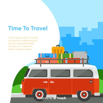 Tijd om te reizen achtergrond