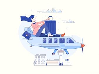 Tijd om te reizen en zomervakantie poster