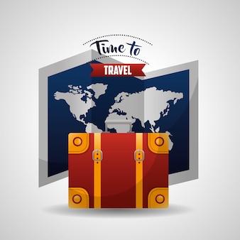 Tijd om te reizen kaart