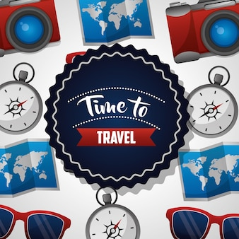 Tijd om te reizen sticker