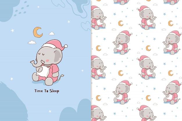 Tijd om te slapen olifant patroon