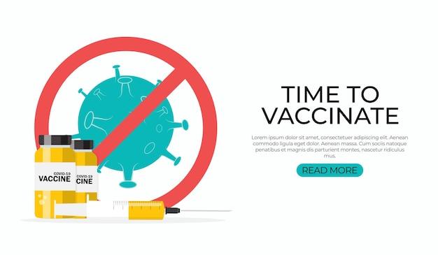 Tijd om te vaccineren. coronavirus vaccinatie.