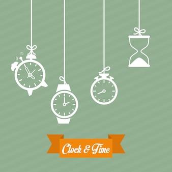 Tijd pictogram ontwerp