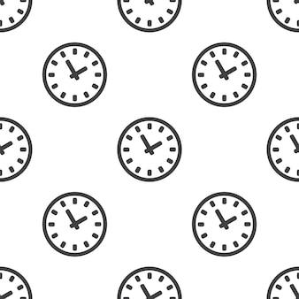 Tijd, vector naadloos patroon, bewerkbaar kan worden gebruikt voor webpagina-achtergronden, opvulpatronen