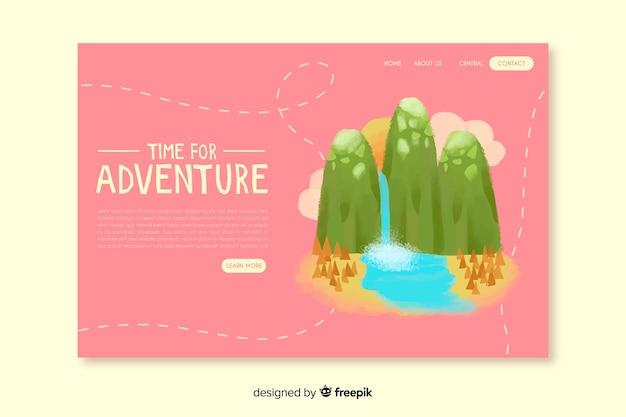 Tijd voor bestemmingspagina voor avontuur