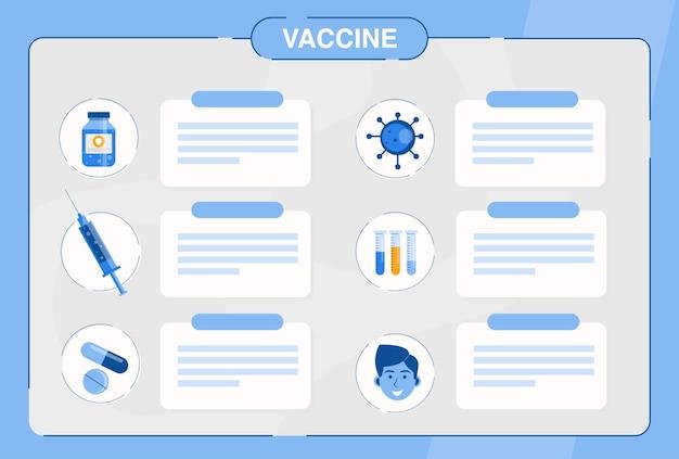 Tijd voor het vaccinatieconcept van het coronavirus. artsen adviseren wat te doen bij besmetting met coronavirus