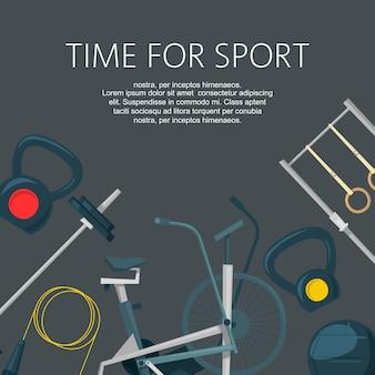 Tijd voor sport sjabloon
