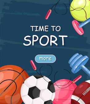 Tijd voor sportbanner
