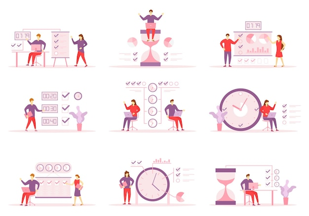 Tijdbeheer, verdeling van prioriteit van taken illustratie